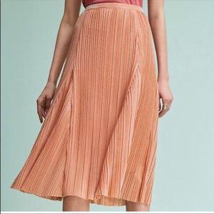 Rose Gold Midi Skirt
